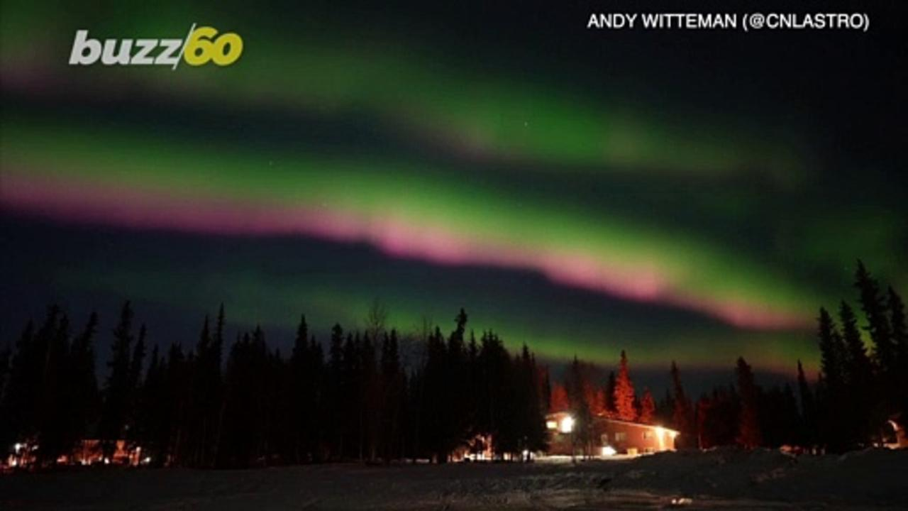 Fairbanks Fireworks! Alaskan Skies Light Up With the Shimmering Display Of the Northern Lights!