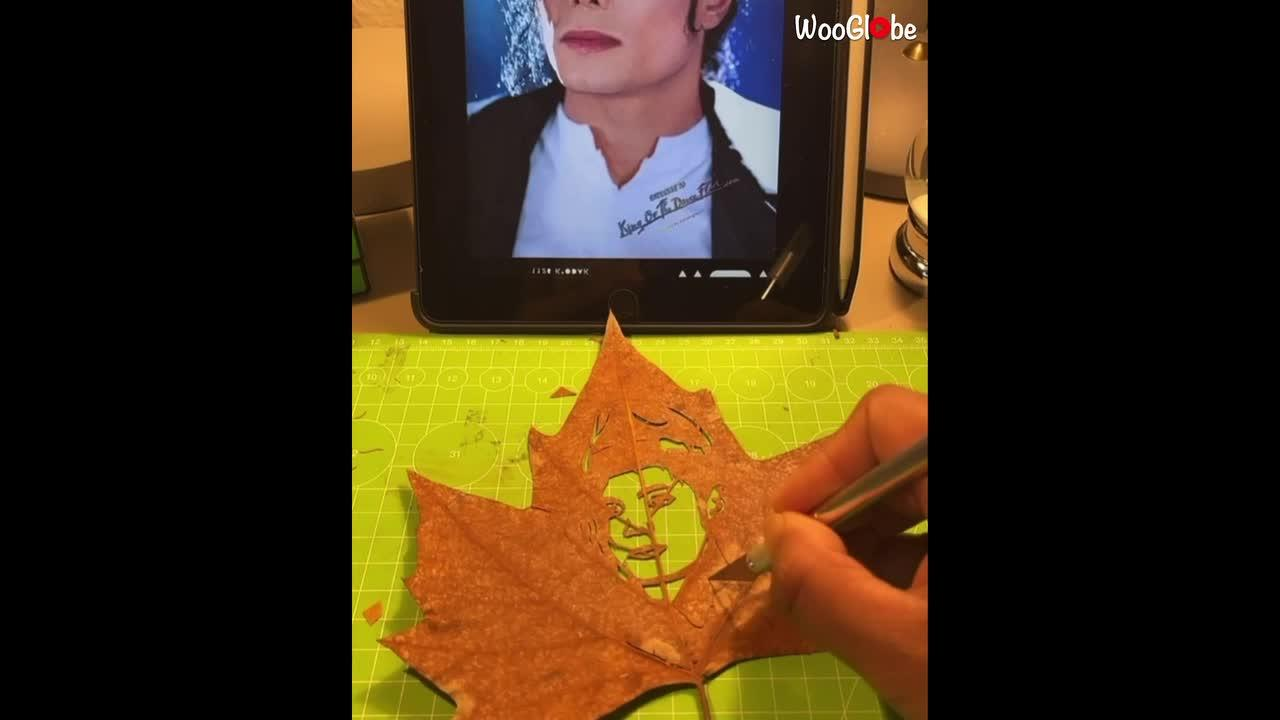 Danish creator transform leaves into artwork of Michael Jackson and famous TikTokers