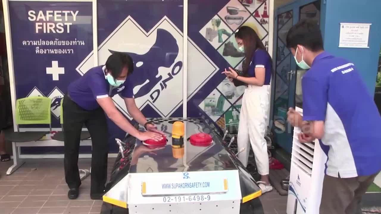 Thai inventor builds homemade disinfectant spraying robot amid Covid-19 resurgence