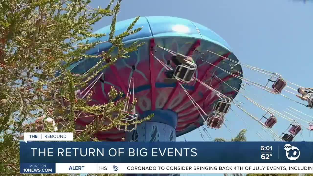 California prepares for return of big events