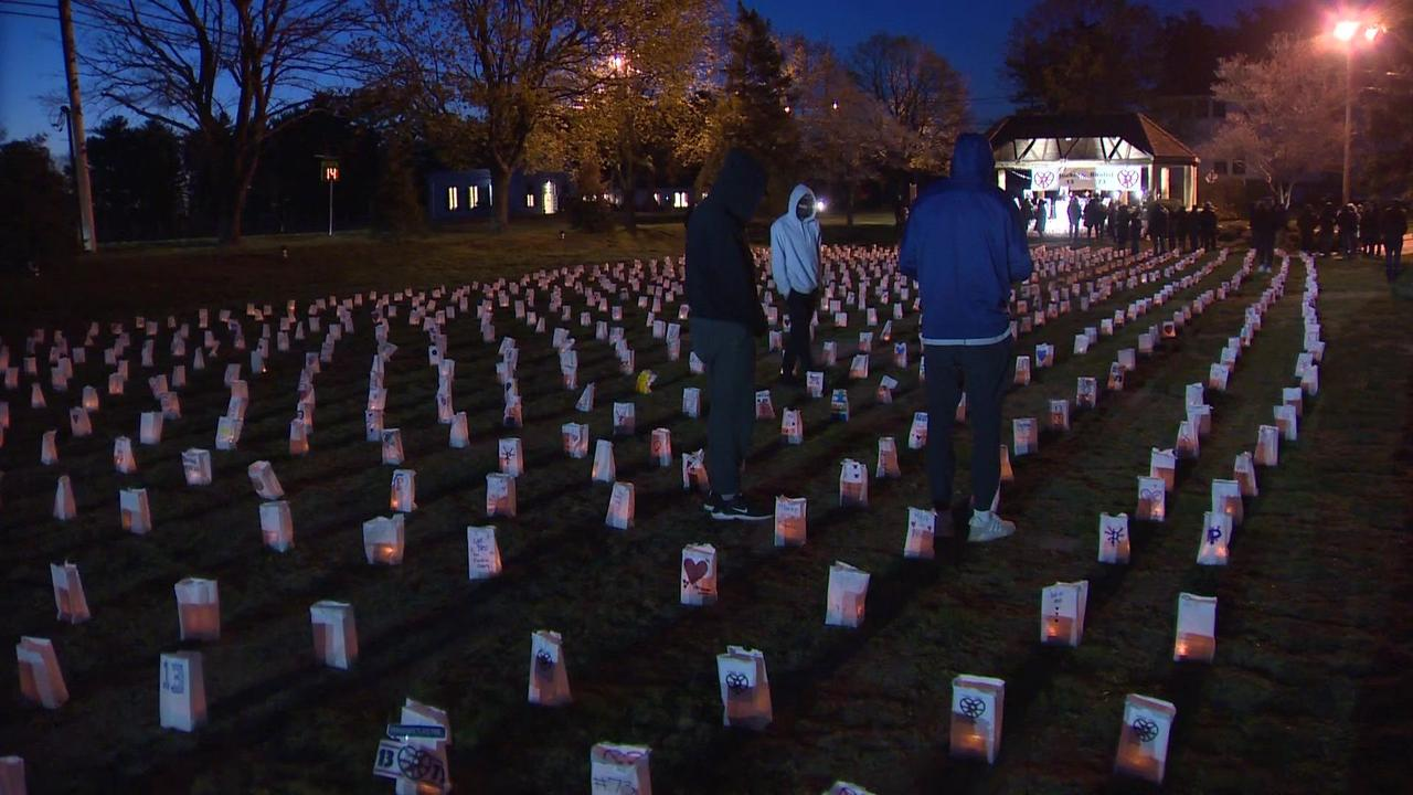 2,000 luminaries placed to remember Pembroke crash victims