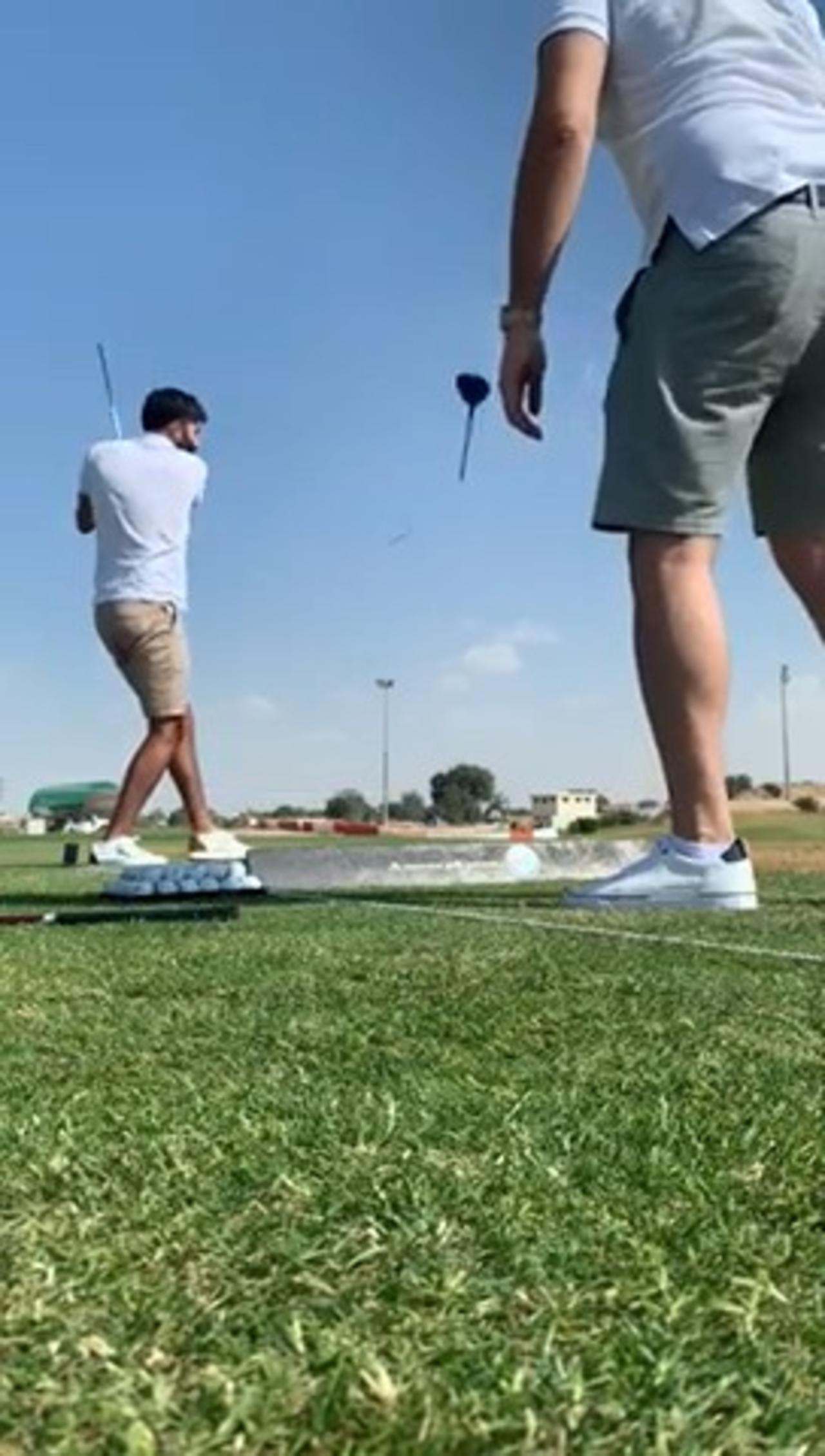 Golf Club Breaks When Guy Takes Shot