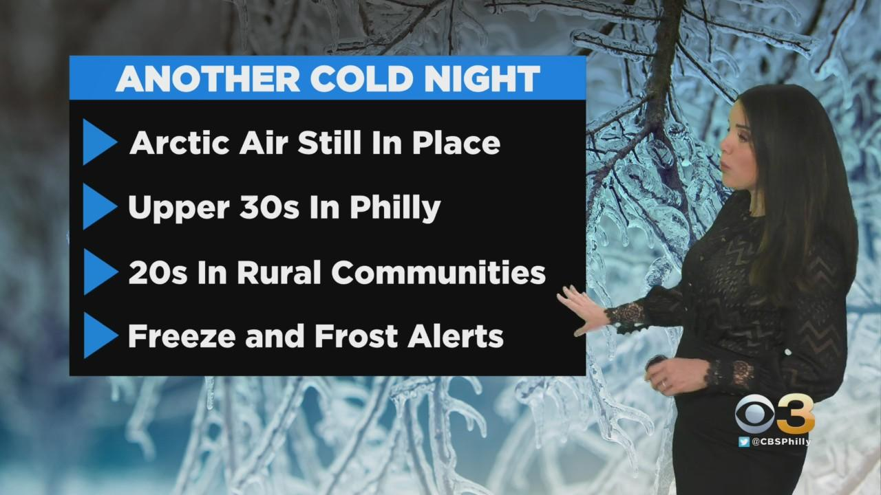 Philadelphia Weather: Another Cold Night