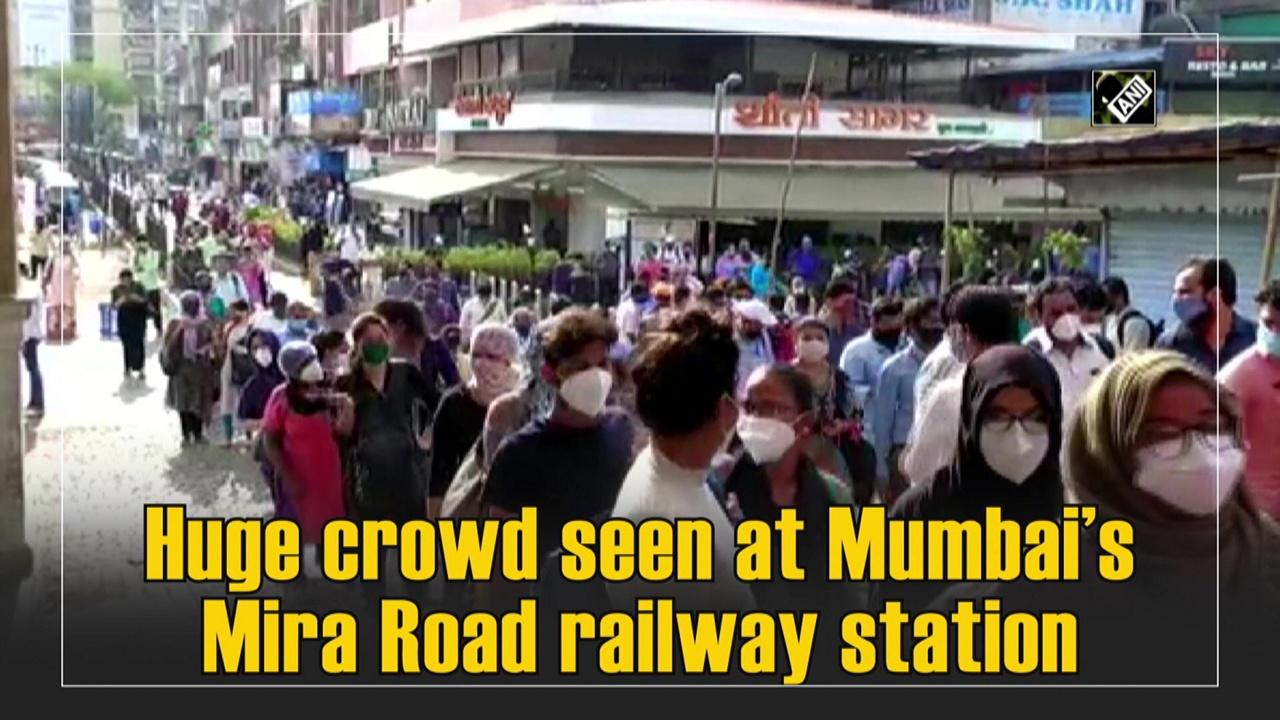 Huge crowd seen at Mumbai's Mira Road railway station