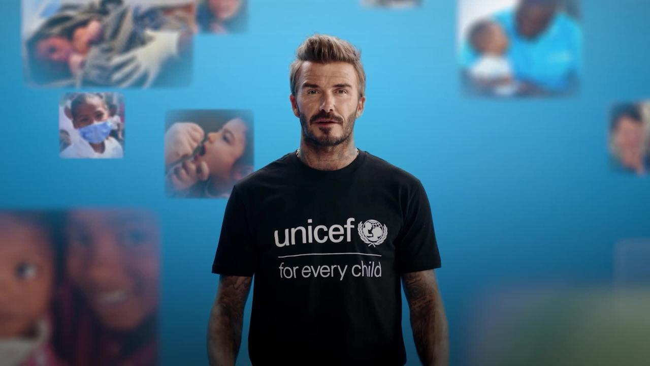 David Beckham leads global vaccination drive for Unicef