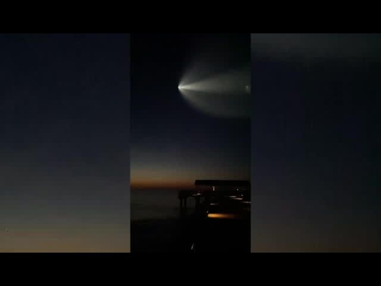 SpaceX shuttle launch: View from Tybee Island
