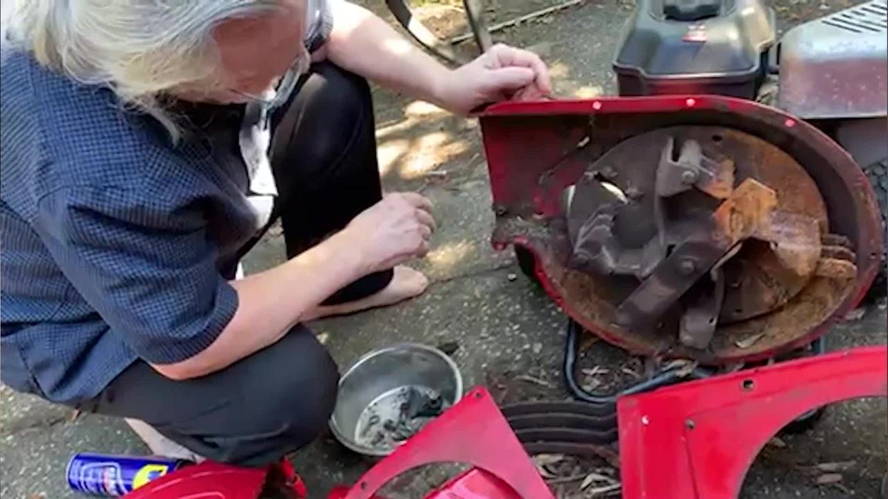 This father-daughter team spent hours taking apart an entire wood chipper in order to rescue a kitten that was stuck inside