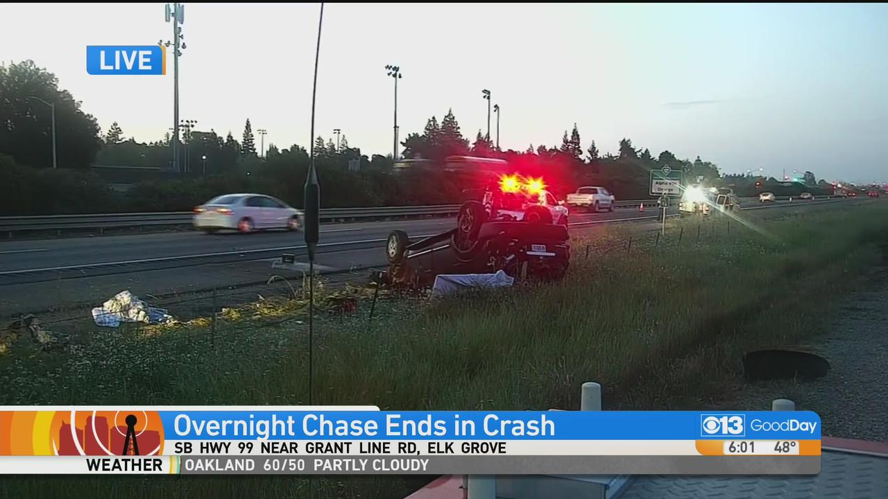 Overnight Chase Ends In Crash