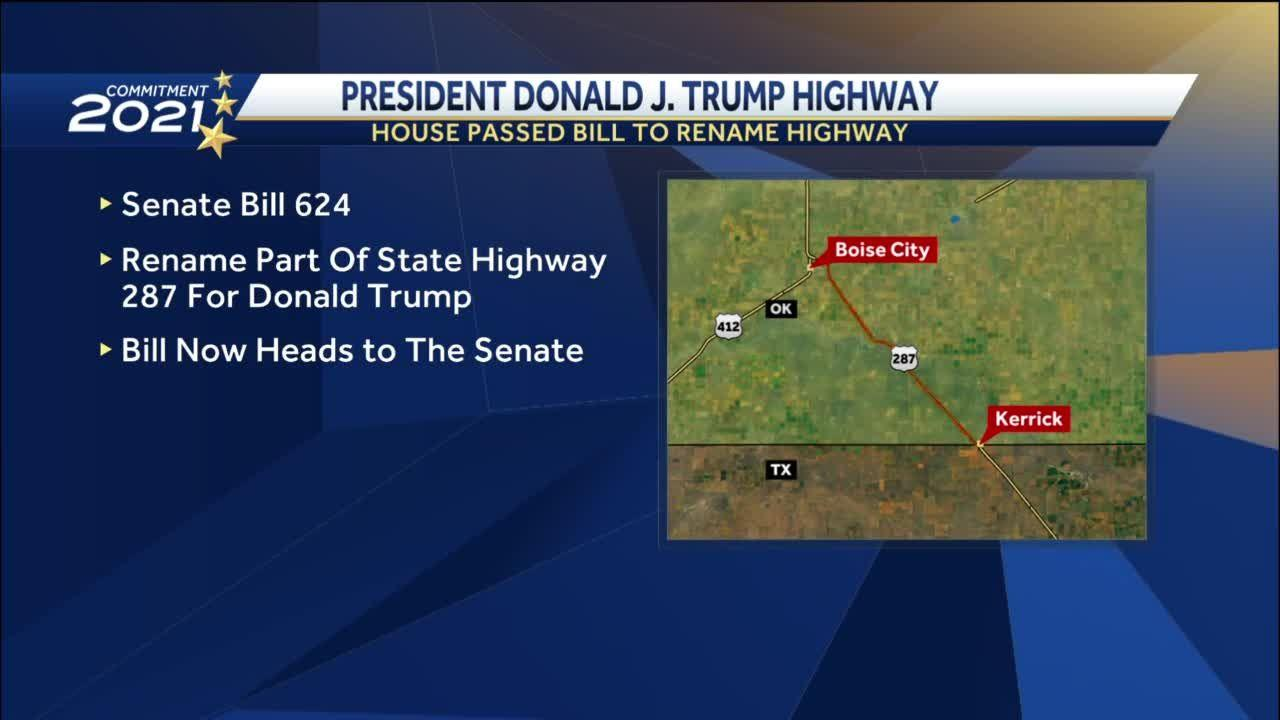 Oklahoma House passes bill that would name highway after former President Donald Trump