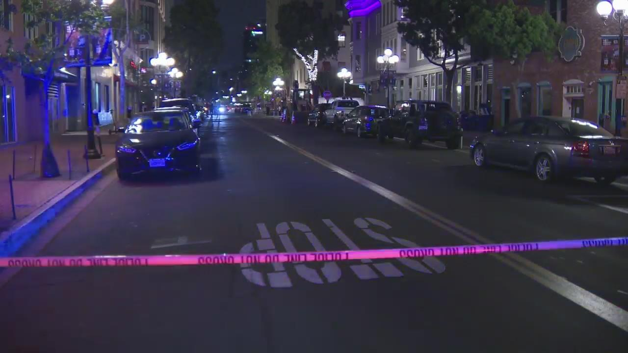 Police: 1 dead, 4 wounded in downtown San Diego shooting