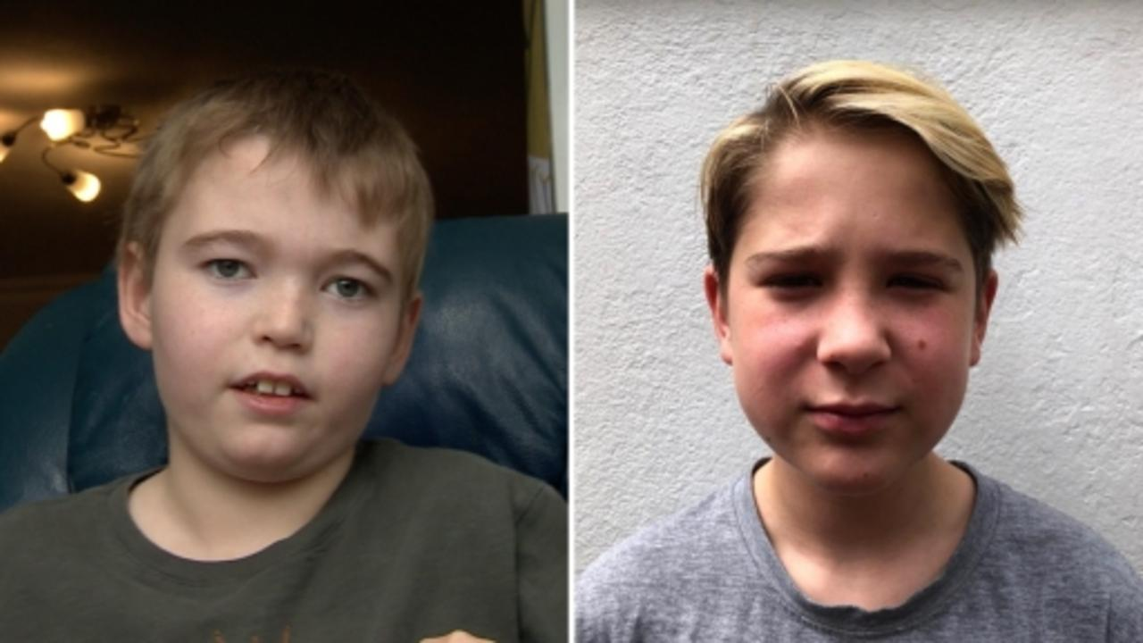 Two 13-year-old boys desperate to get a vaccine