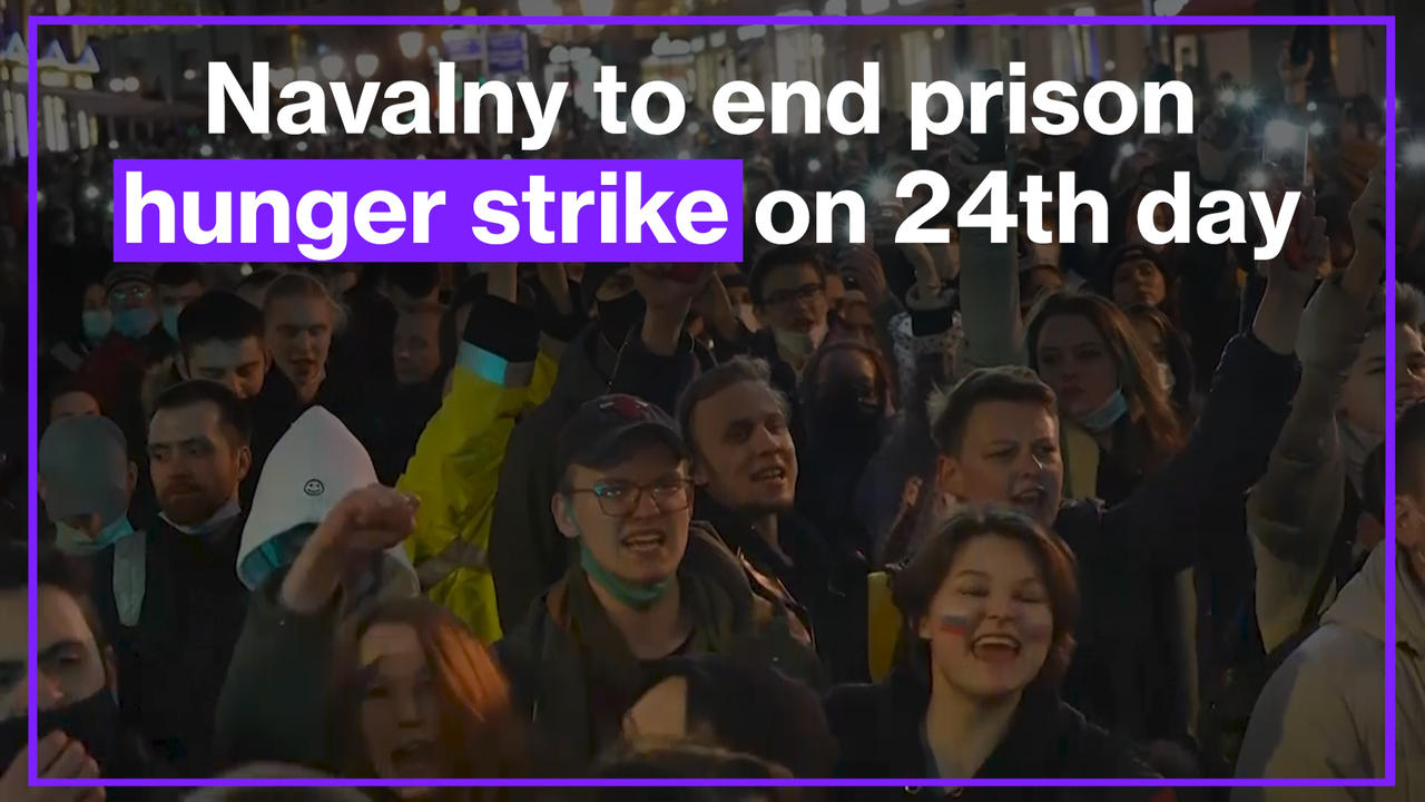 Russian opposition Alexei Navalny to end prison hunger strike on 24th day