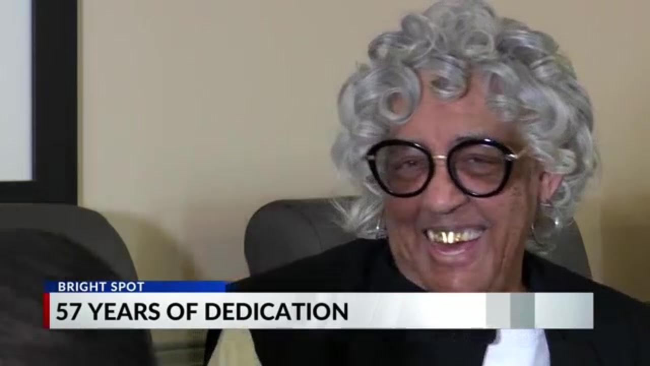 Tennessee hospital employee gets surprise party celebrating her 57 years of service