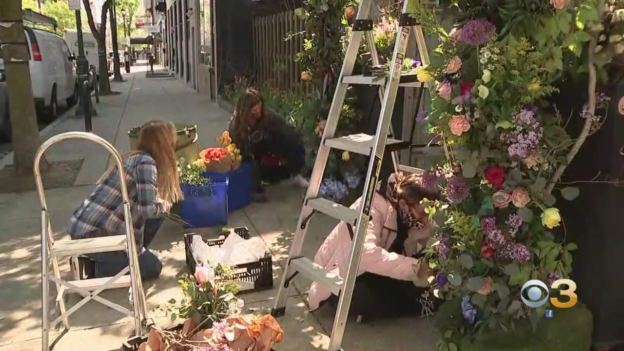 Philadelphia Flower Show Preparations Are In Full Bloom As PHS Debuts Pop-Up Garden