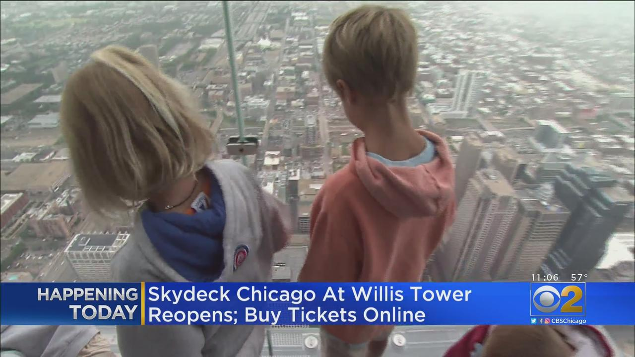 Skydeck Chicago At Willis Tower Reopens Friday