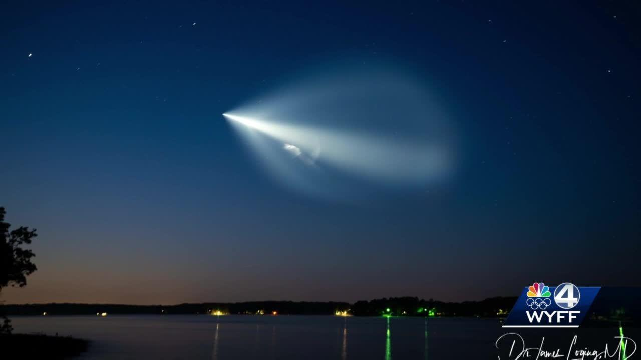 SpaceX launch seen across the skies of the Upstate Friday morning