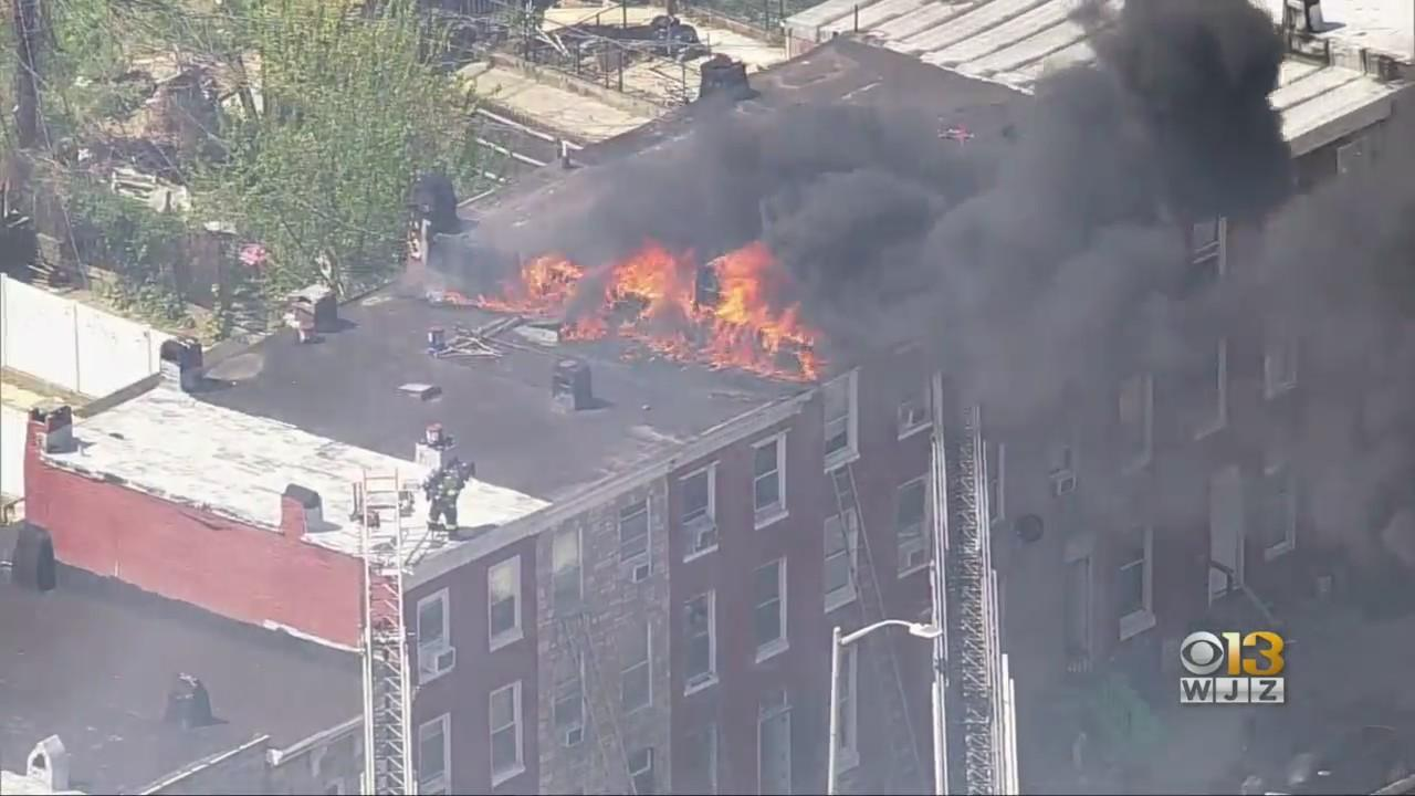 Firefighter Injured While Battling 5-Alarm Fire In West Baltimore