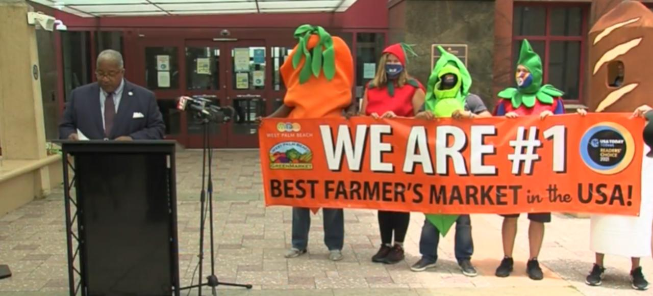 West Palm Beach Green market named Best Farmers Market in the country