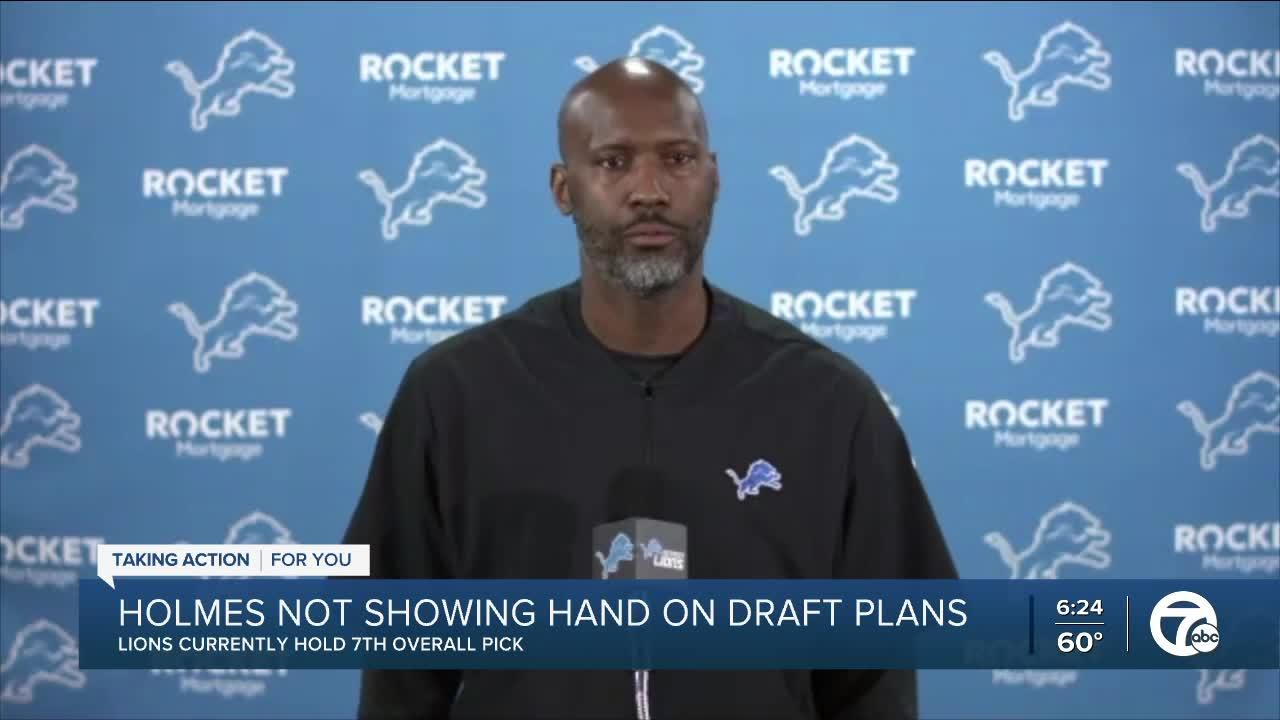 Lions GM Brad Holmes discusses draft options
