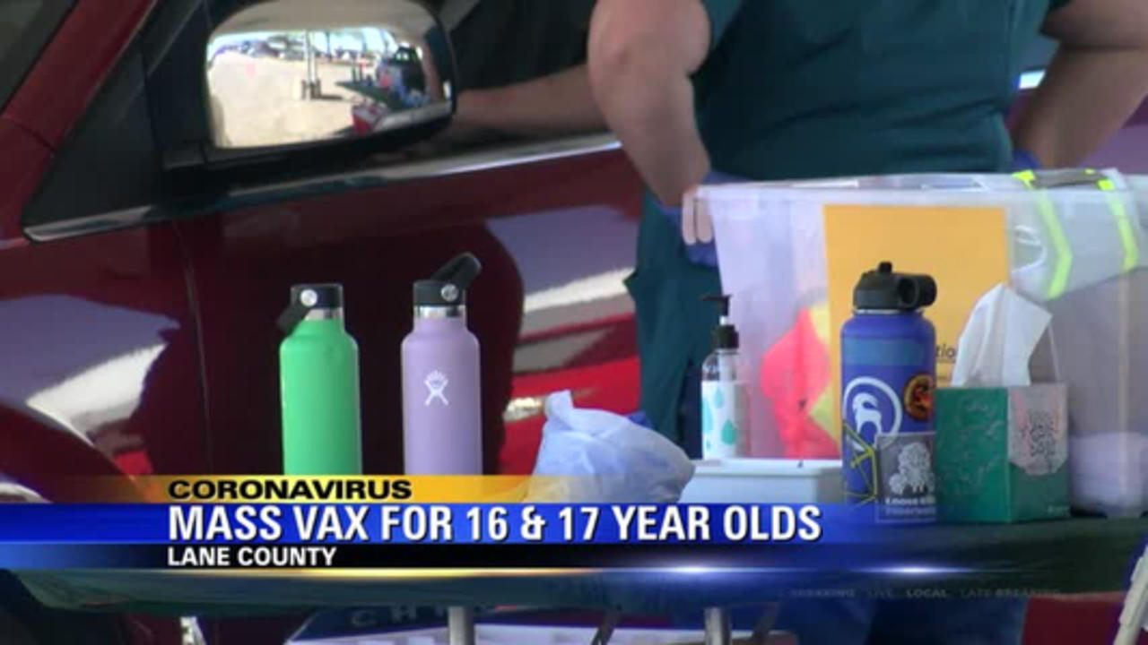 Lane County host mass vax clinic for 16 and 17 year-olds