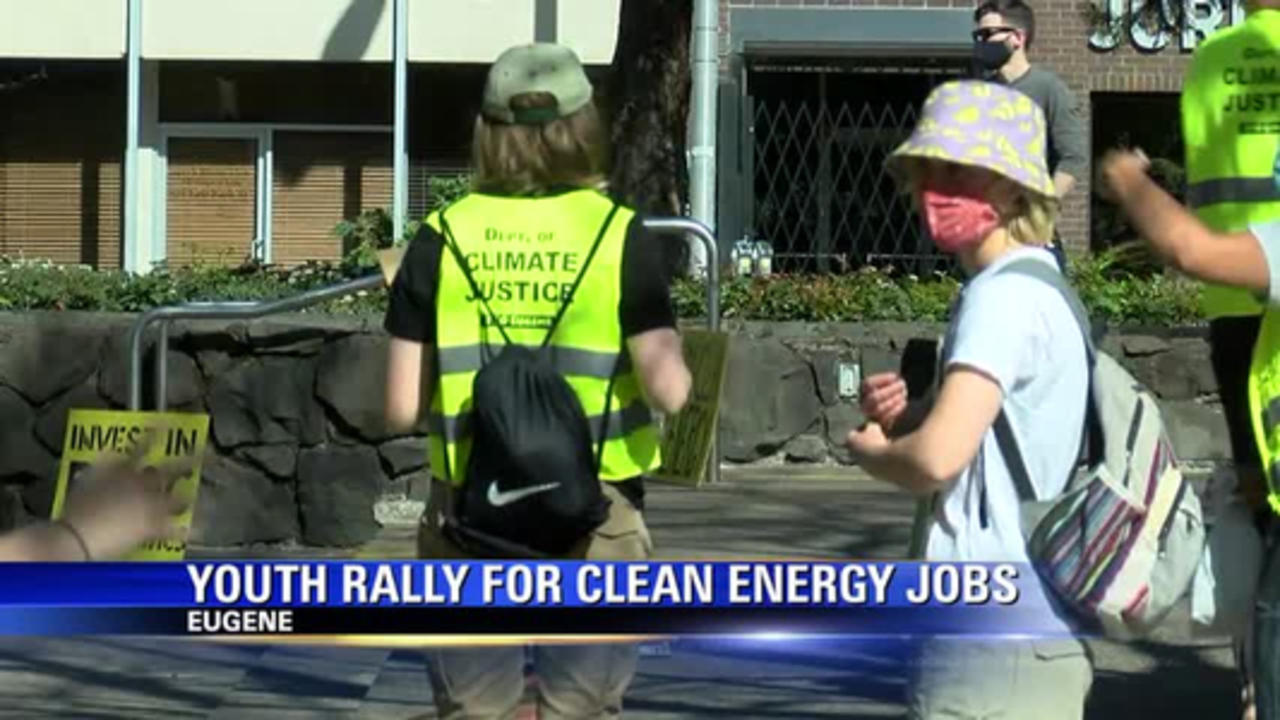 Eugene rally demands action on climate change on Earth Day