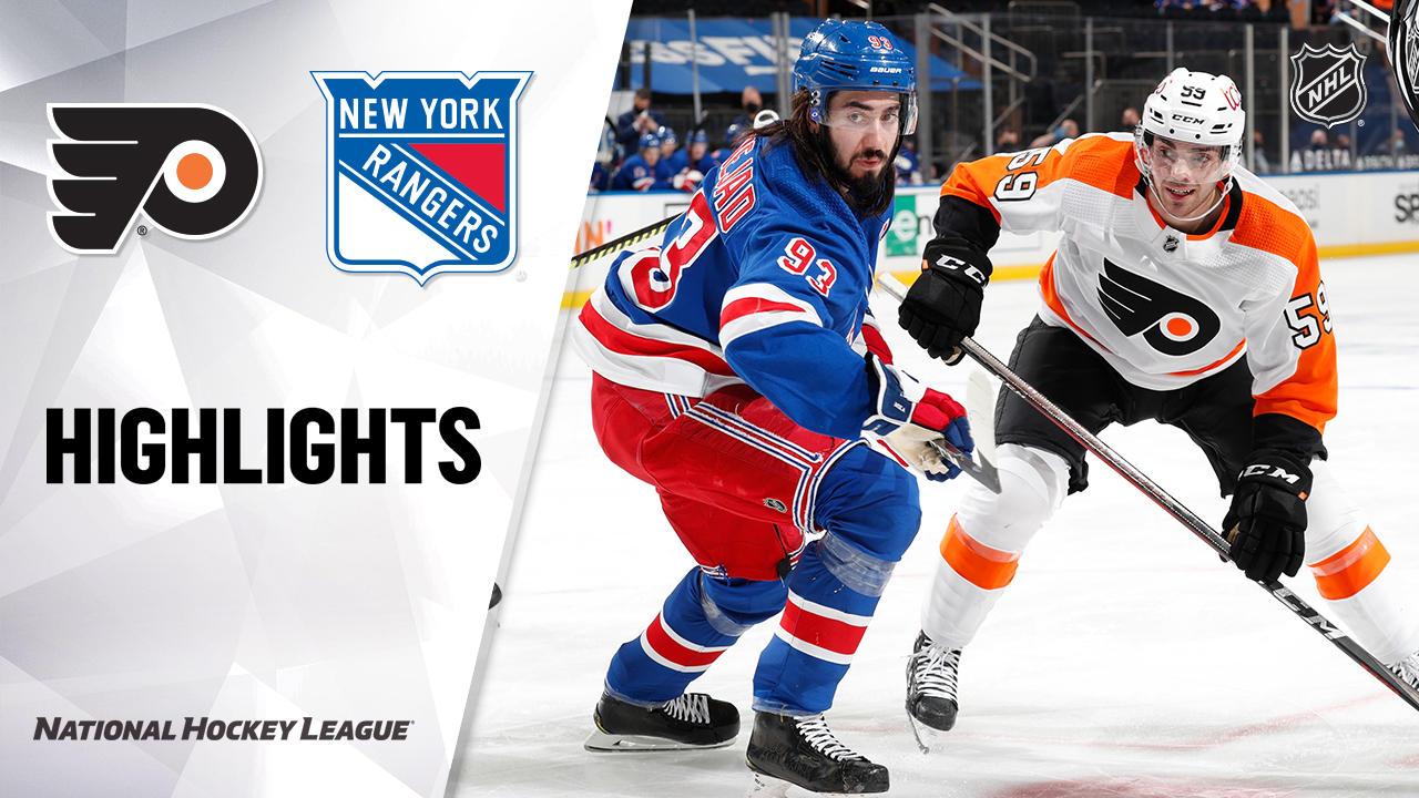 Flyers @ Rangers 4/23/21   NHL Highlights