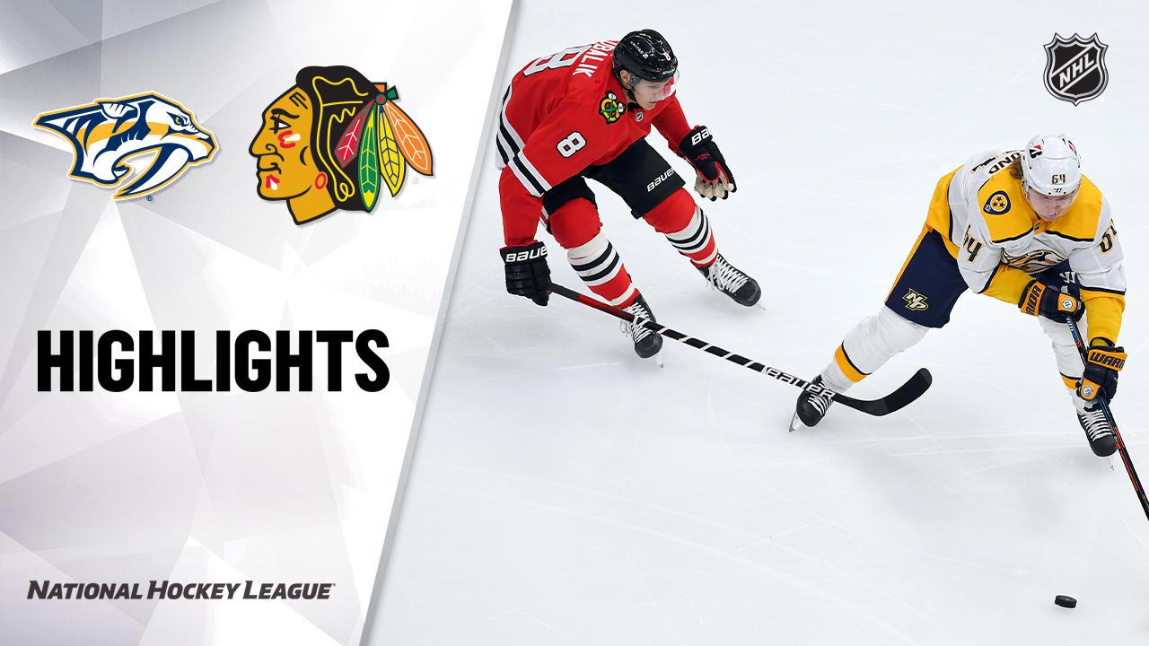 Predators @ Blackhawks 4/23/21 | NHL Highlights