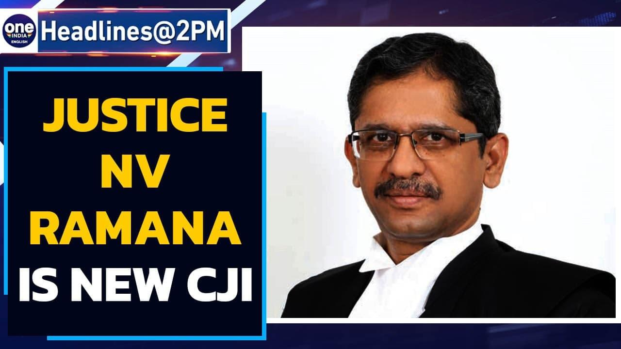 Justice NV Ramana sworn in as new Chief Justice of India   Oneindia News