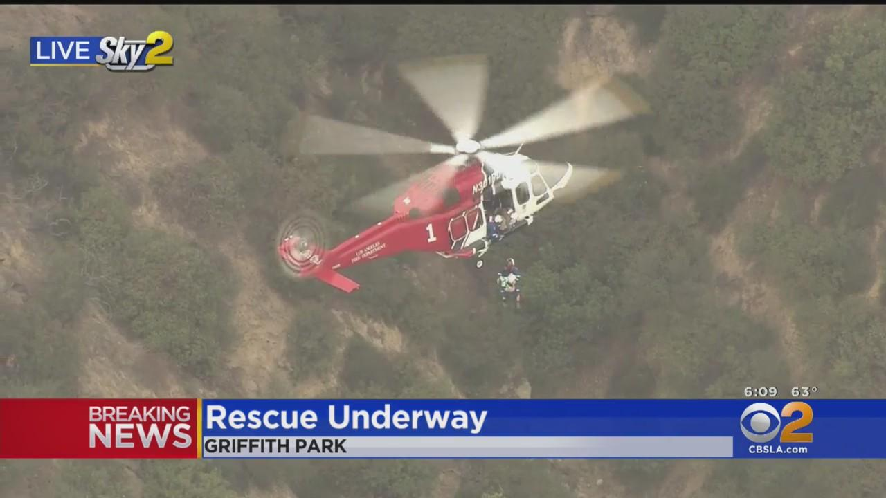 Griffith Park Air Rescue Of Two Hikers