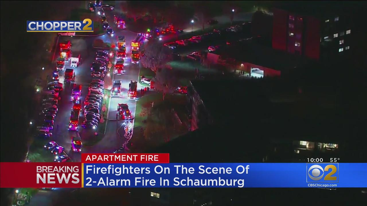 Firefighters On Scene Of Two-Alarm Fire In Schaumburg
