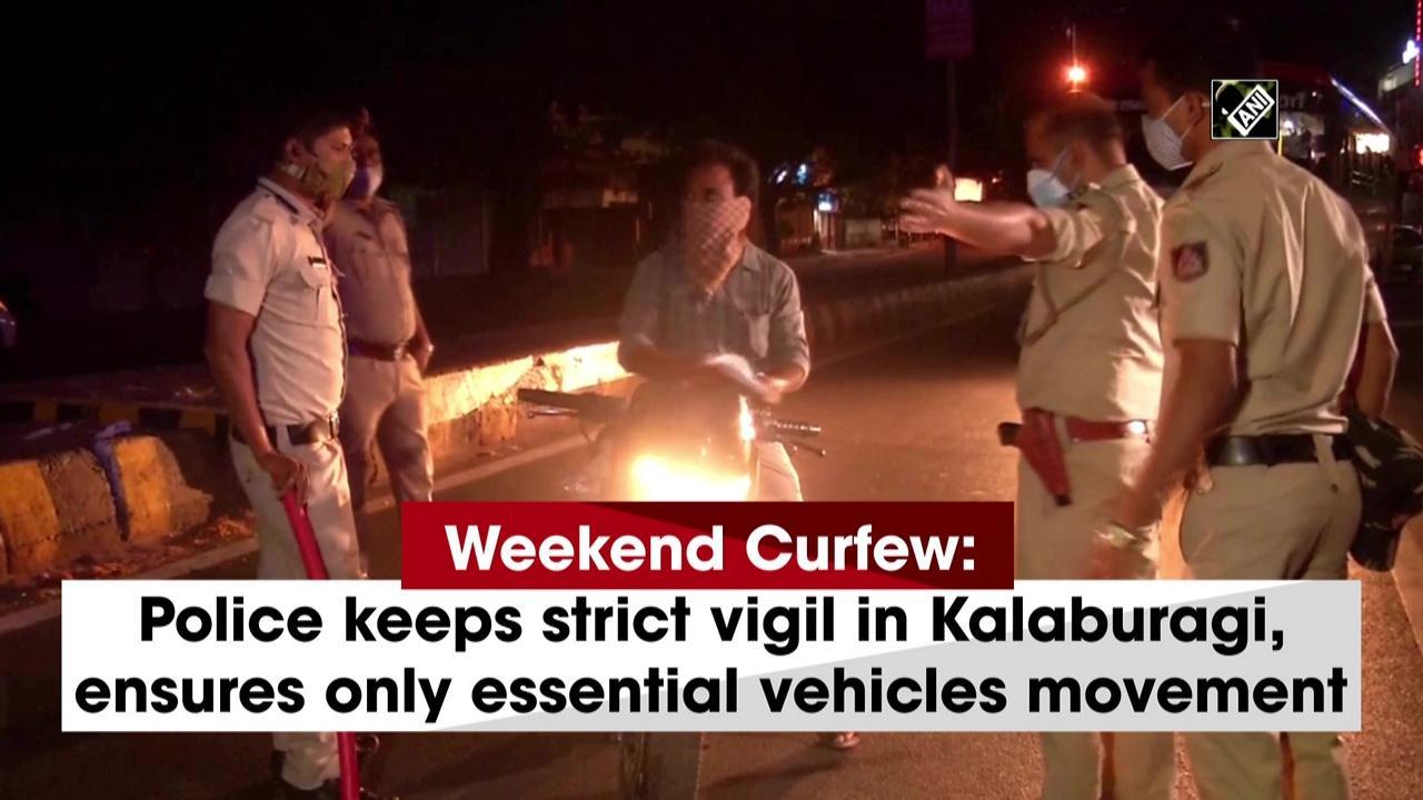 Weekend Curfew: Police keeps strict vigil in Kalaburagi, ensures only essential vehicles movement