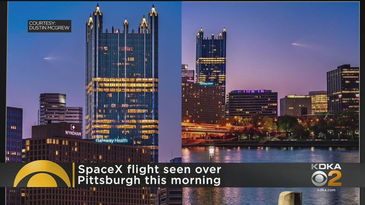 SpaceX Flight Seen Over Pittsburgh