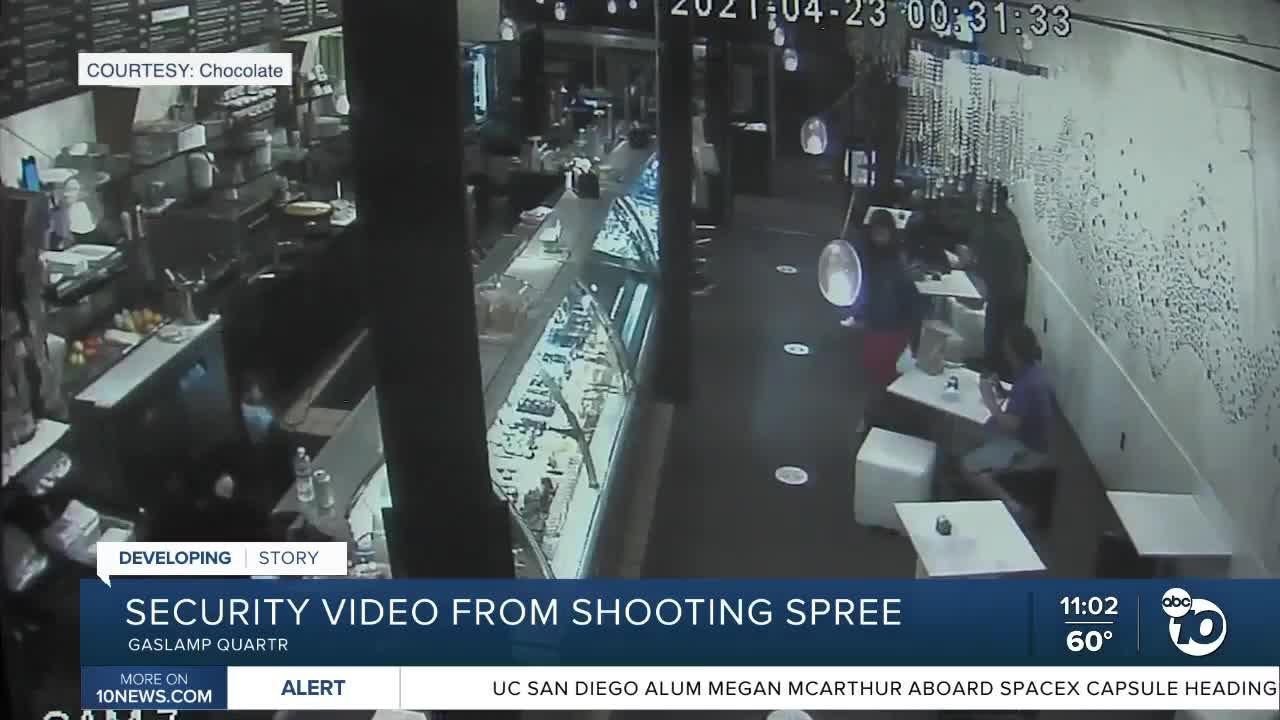 Security video from shooting spree