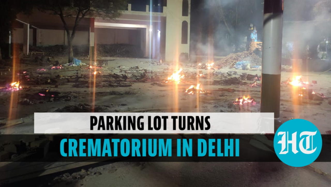 Ghazipur crematorium staff holds mass funeral in adjoining parking lot amid rush