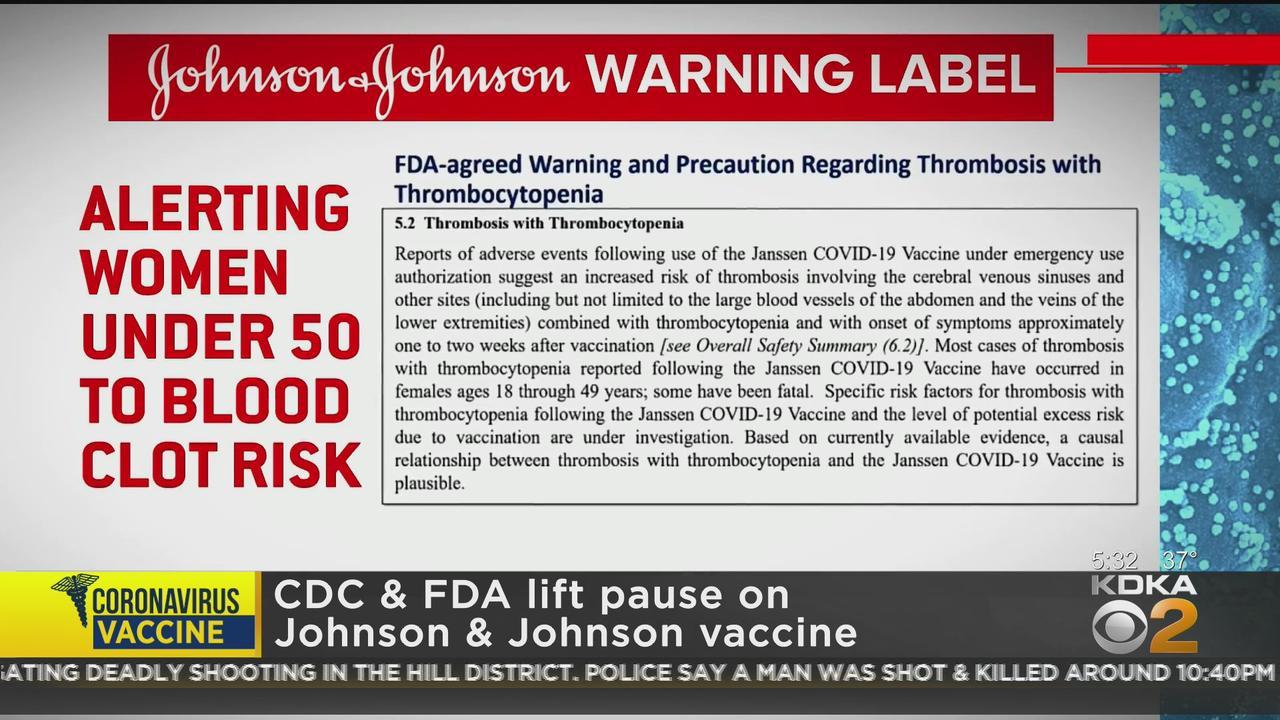 CDC, FDA Lift Johnson & Johnson COVID-19 Vaccine Pause