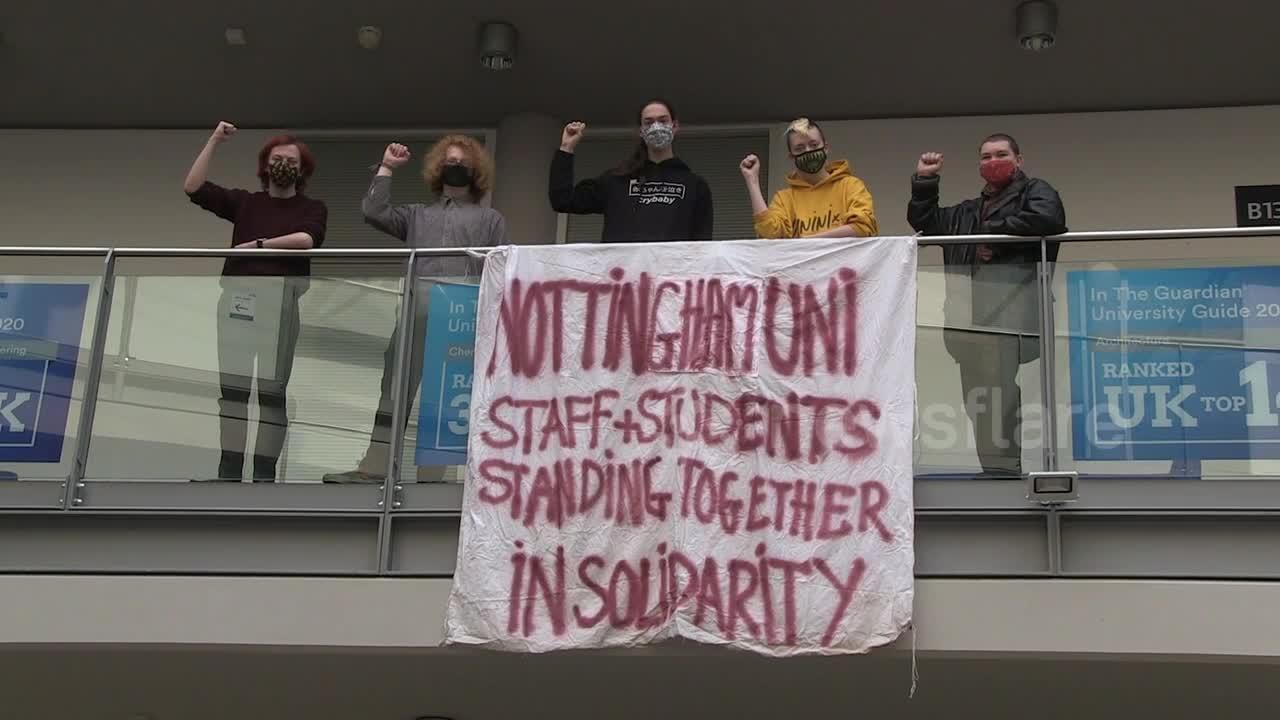 University of Nottingham students occupy campus building in protest over tuition and rent fees