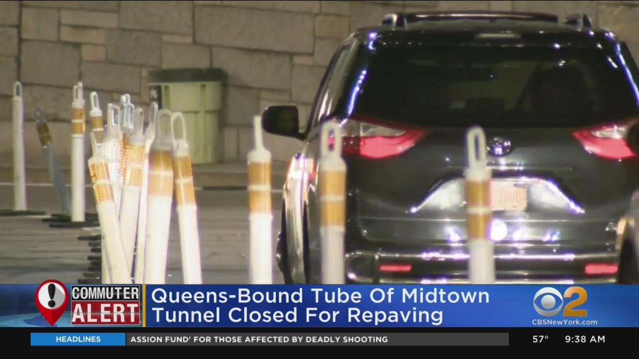 Queens-Bound Tube Of Midtown Tunnel Closed For Repaving