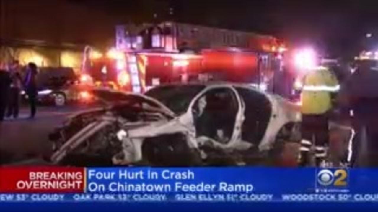 Four Injured In Crash On Chinatown Feeder Ramp
