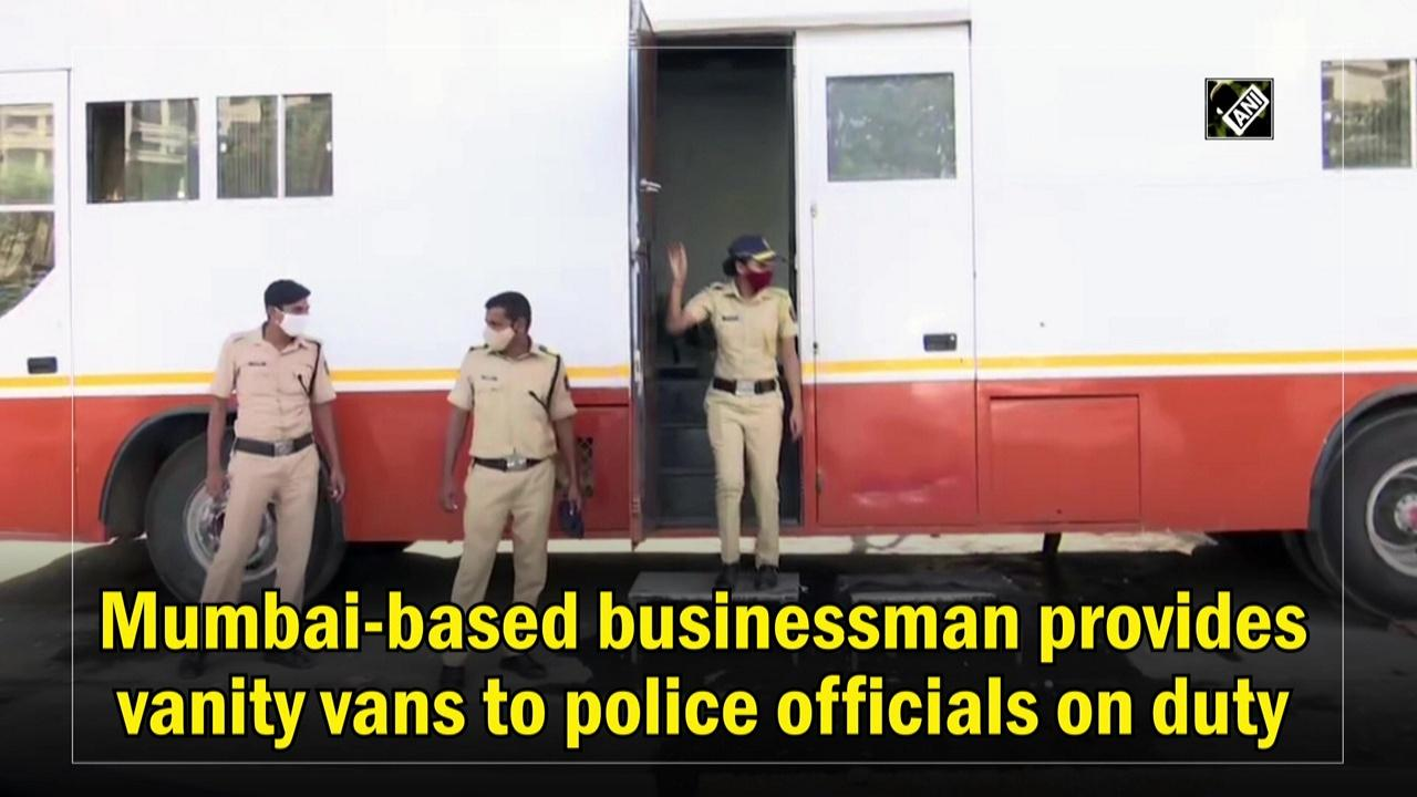 Mumbai-based businessman provides vanity vans to police officials on duty