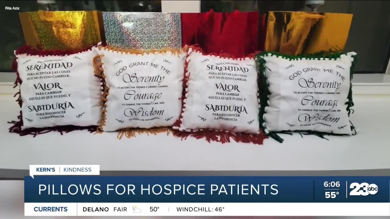 Kern's Kindness: Pillows for Hospice patients