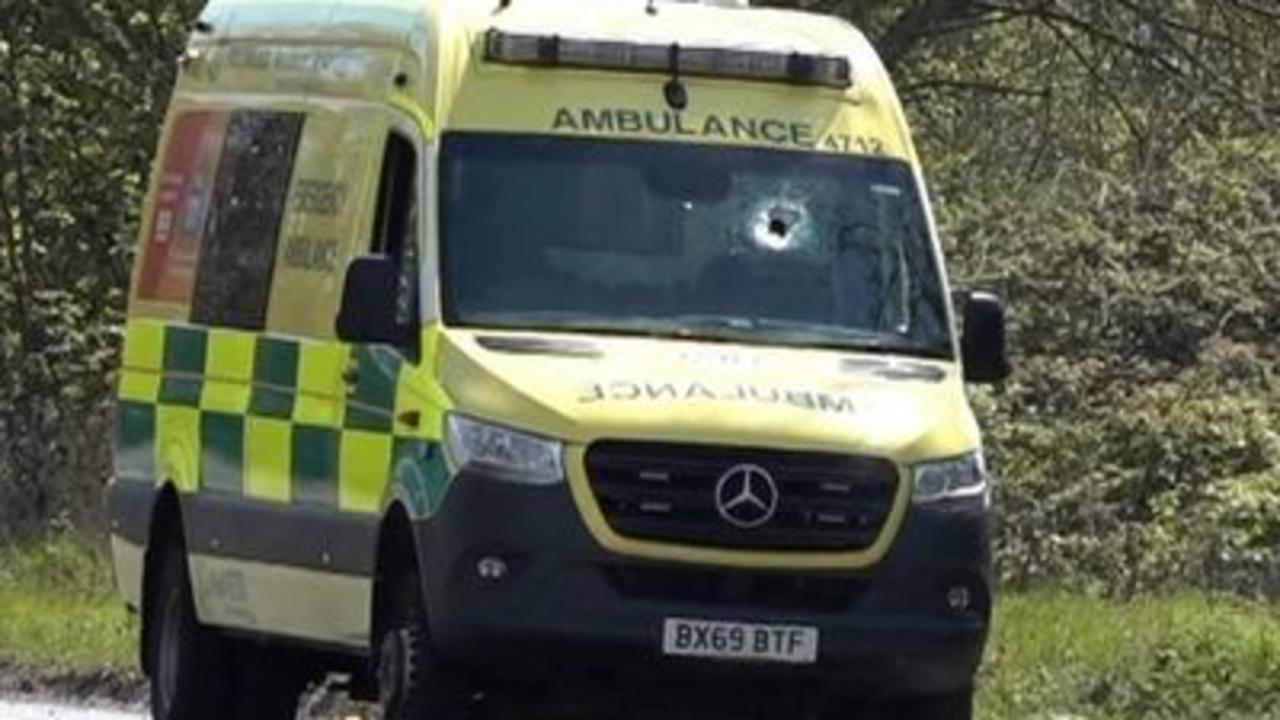 Ambulance worker dead after object hits windscreen