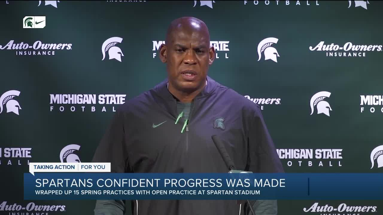 Michigan State wraps up spring football with open practice