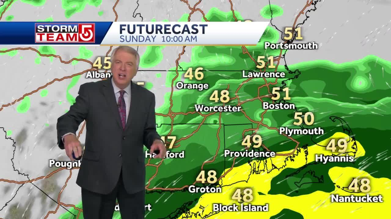 Video: Rain will hang around for most of Sunday, but not much will fall