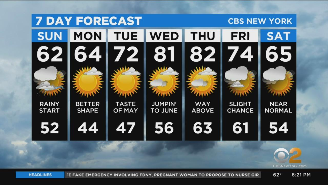 New York Weather: CBS2 4/24 Evening Forecast at 6PM