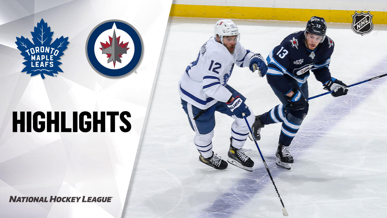 Maple Leafs @ Jets 4/24/21 | NHL Highlights
