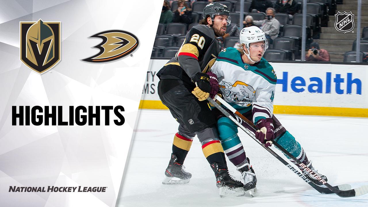 Golden Knights @ Ducks 4/24/21 | NHL Highlights