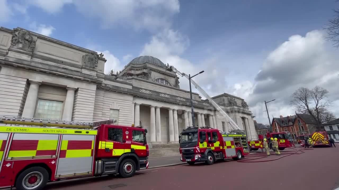 Fire crews respond to blaze at National Museum of Wales in Cardiff