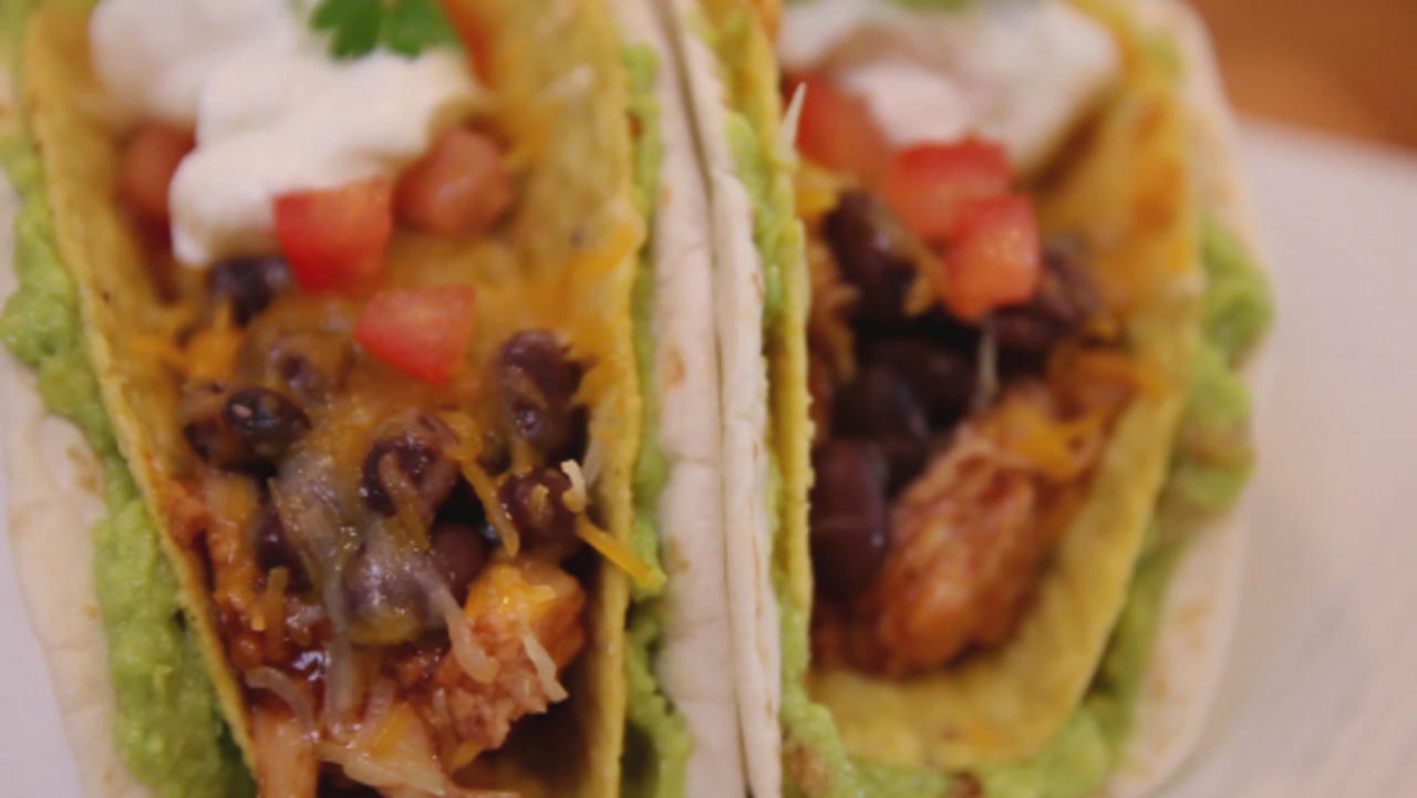 Baked Double Decker Tacos with Guacamole Will Transform Your Next Taco Night