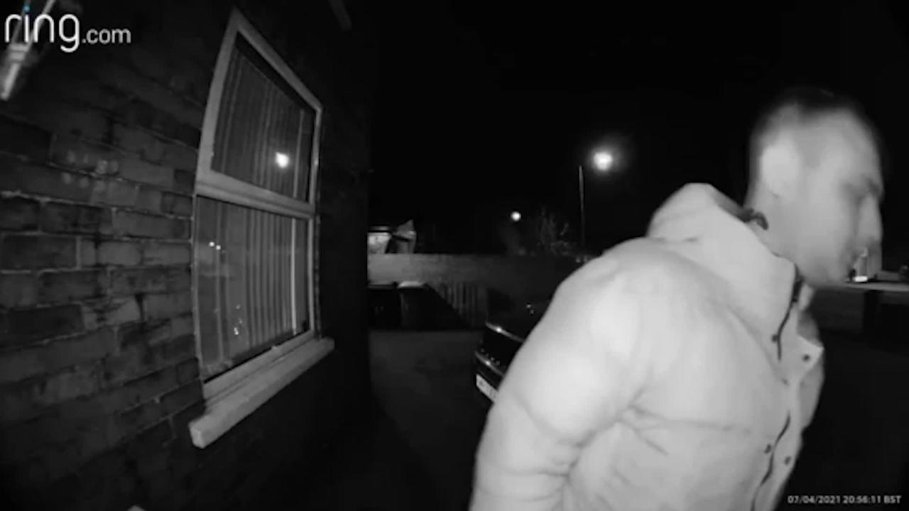 Dramatic doorbell footage shows three men attempt to steal victim's dogs