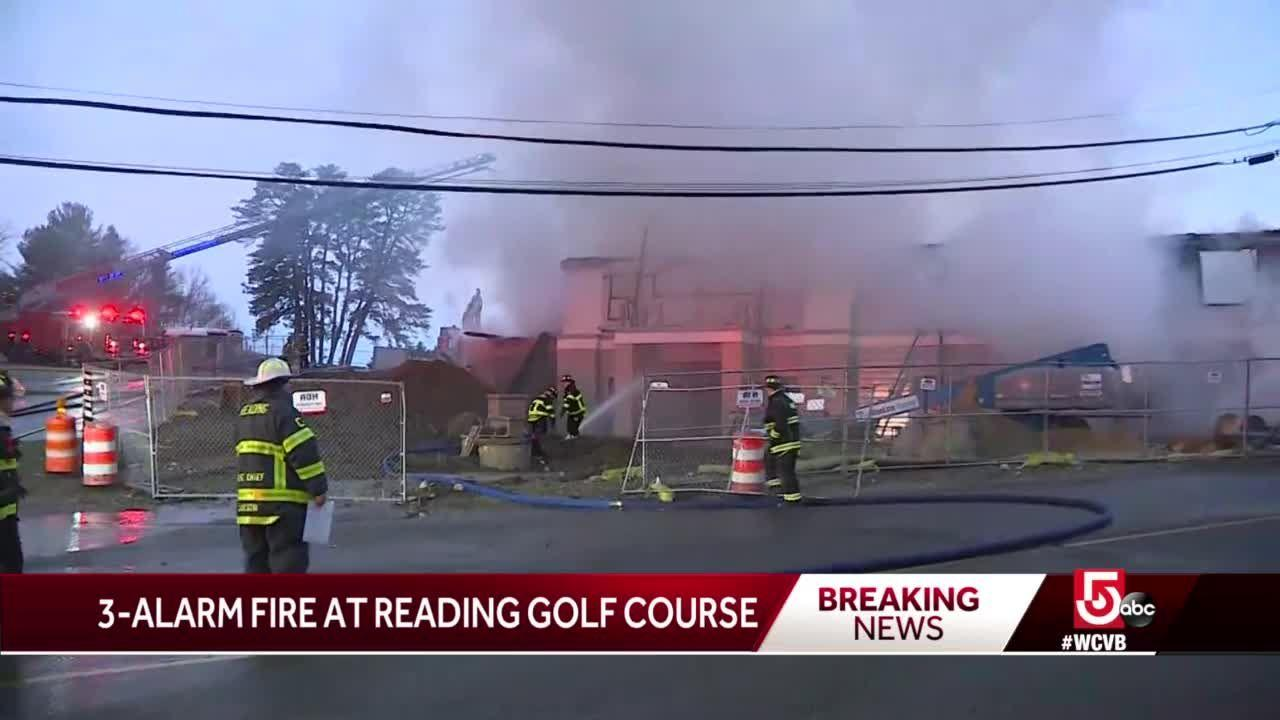 Fire rips through golf course clubhouse in Reading